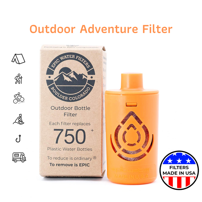 Outdoor Adventure Replacement Filter   Removes Bacteria Cysts & Viruses