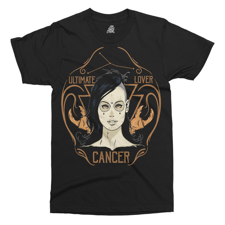 Star Sign Cancer Printed T-Shirt - UpShirtCreek