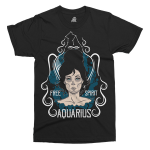 Star Sign Aquarius Printed T-Shirt - UpShirtCreek