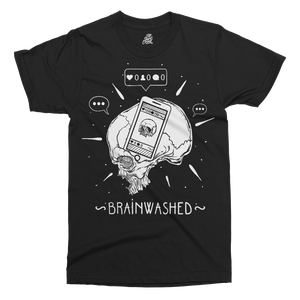 Brainwashed By Social Media Printed T-Shirt - UpShirtCreek