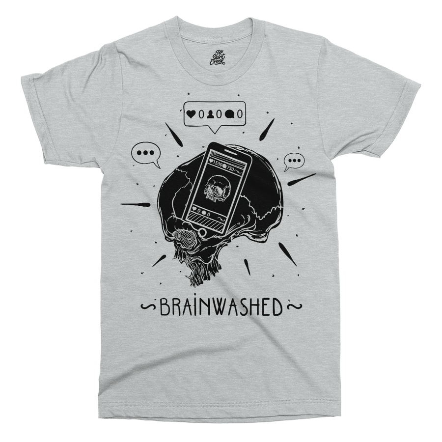 Brainwashed By Social Media Printed T-Shirt