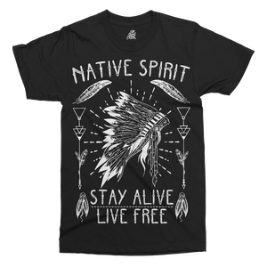 Native American Spirit Printed T-Shirt - UpShirtCreek