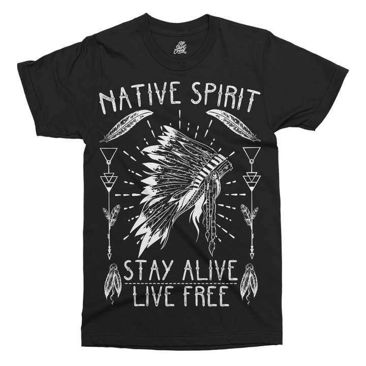 Native American Spirit Printed T-Shirt