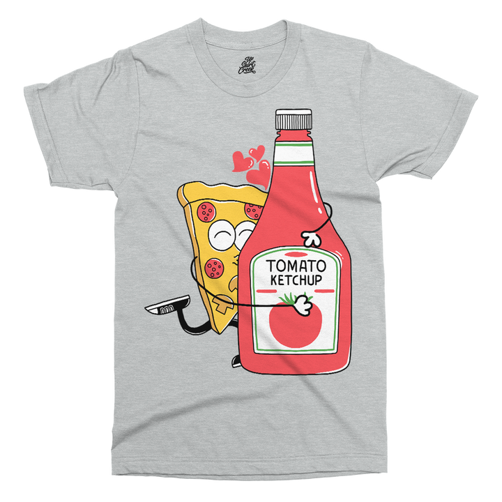 I Love You More Than Pizza Printed T-Shirt - UpShirtCreek