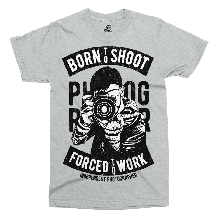 Born To Shoot Printed T-Shirt - UpShirtCreek