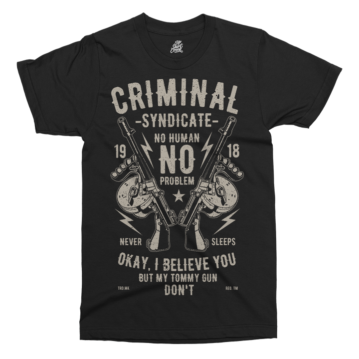 Criminal Syndicate Printed T-Shirt