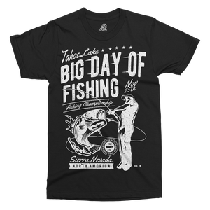Big Day Of Fishing Printed T-Shirt - UpShirtCreek