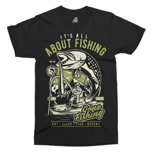 All About Fishing Printed T-Shirt
