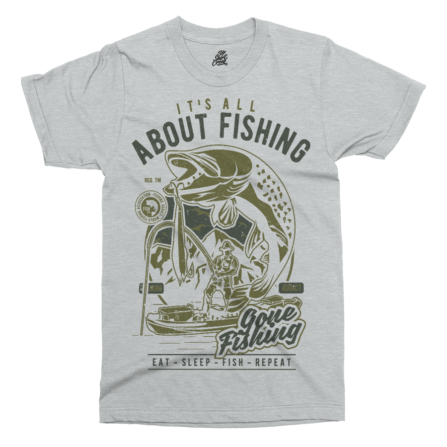 All About Fishing Printed T-Shirt - UpShirtCreek