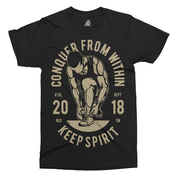 Conquer From Within Printed T-Shirt - UpShirtCreek