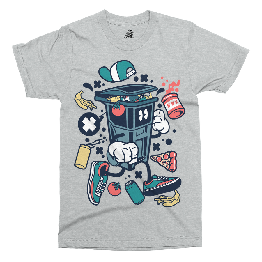 Trash Can Printed T-Shirt - UpShirtCreek