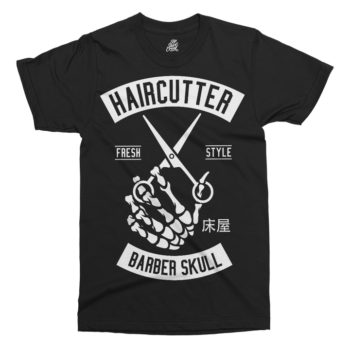 Haircutter Printed T-Shirt - UpShirtCreek