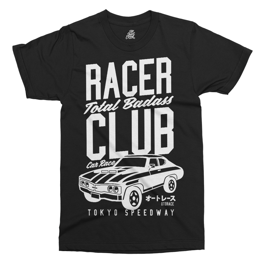 Racer Club Printed T-Shirt - UpShirtCreek