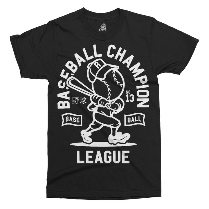 Baseball Champion Printed T-Shirt - UpShirtCreek