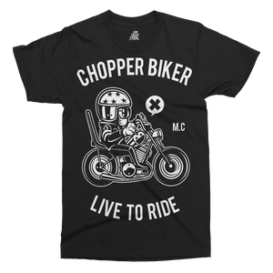 Chopper Biker Printed T-Shirt - UpShirtCreek