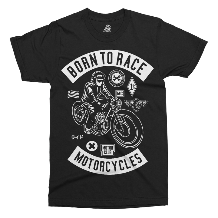 Born To Race Printed T-Shirt - UpShirtCreek