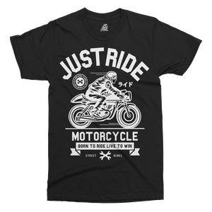 Just Ride Printed T-Shirt