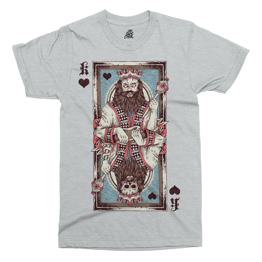 King Of Hearts Printed T-Shirt - UpShirtCreek