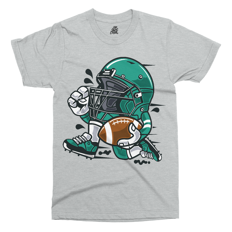 Football Player Printed T-Shirt - UpShirtCreek