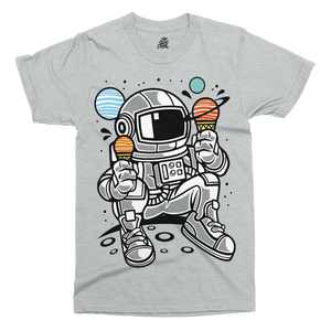 Astronaut Ice Cream Printed T-Shirt - UpShirtCreek