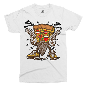 Pizza Gangster Printed T-Shirt - UpShirtCreek