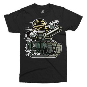 War Tank Printed T-Shirt - UpShirtCreek