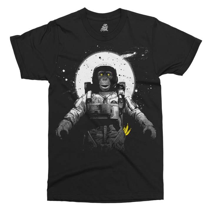 Astronaut Monkey Printed T-Shirt