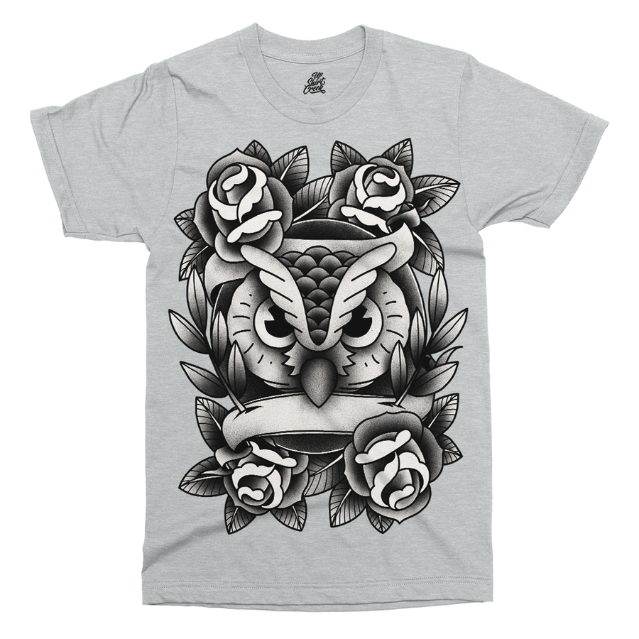Owl Love Printed T-Shirt - UpShirtCreek