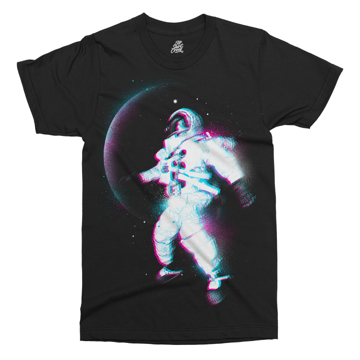 Astronaut Colour Space Printed T-Shirt