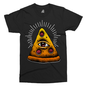 Illuminati Pizza Printed T-Shirt