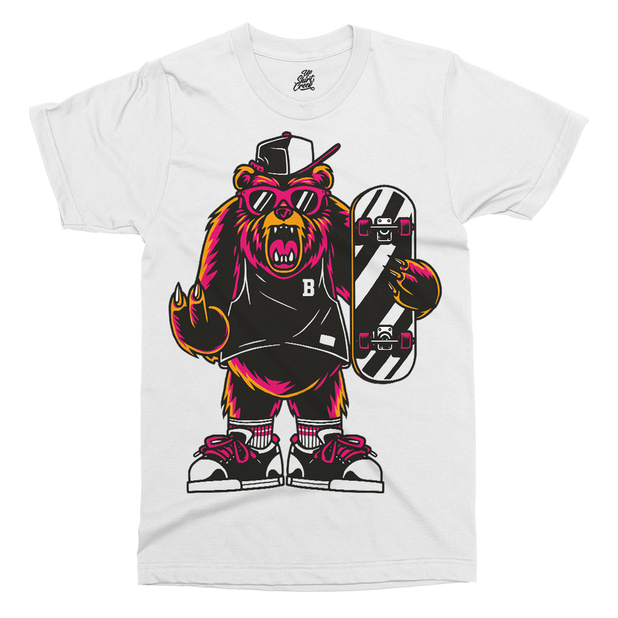 Cool Bear Printed T-Shirt - UpShirtCreek