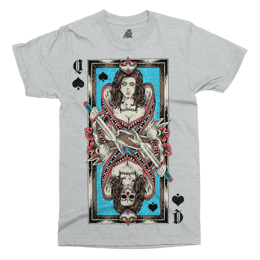 Queen Card Printed T-Shirt - UpShirtCreek