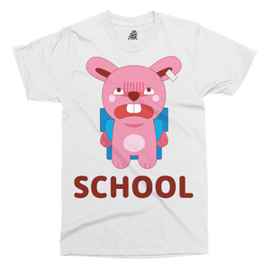 Brat Bunny School Printed T-Shirt