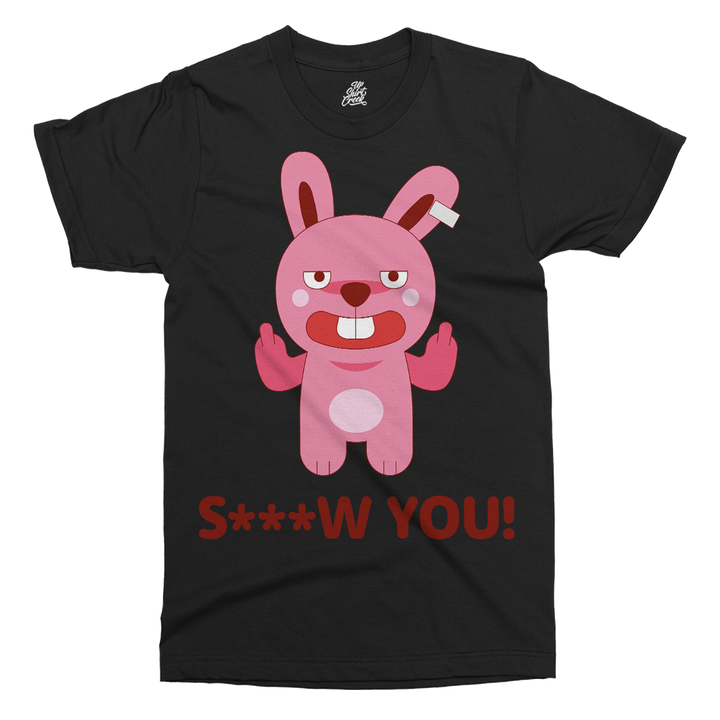 Brat Bunny Screw Printed T-Shirt - UpShirtCreek