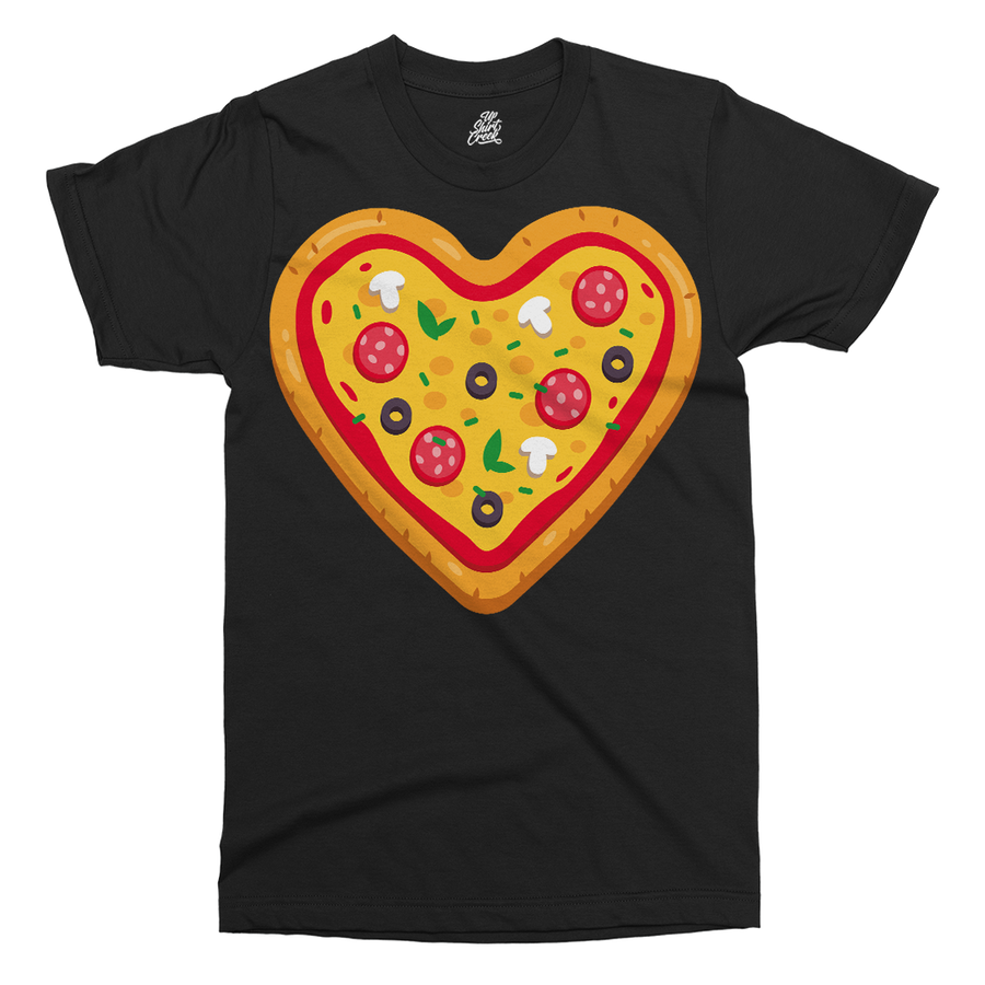 Pizza Love Printed T-Shirt - UpShirtCreek