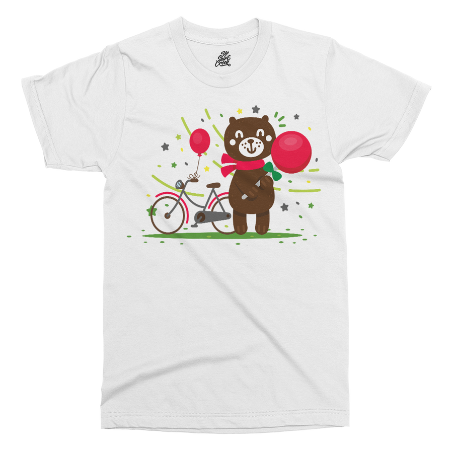 Bear Printed T-Shirt - UpShirtCreek