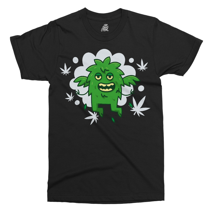 Weed Monster Printed T-Shirt - UpShirtCreek