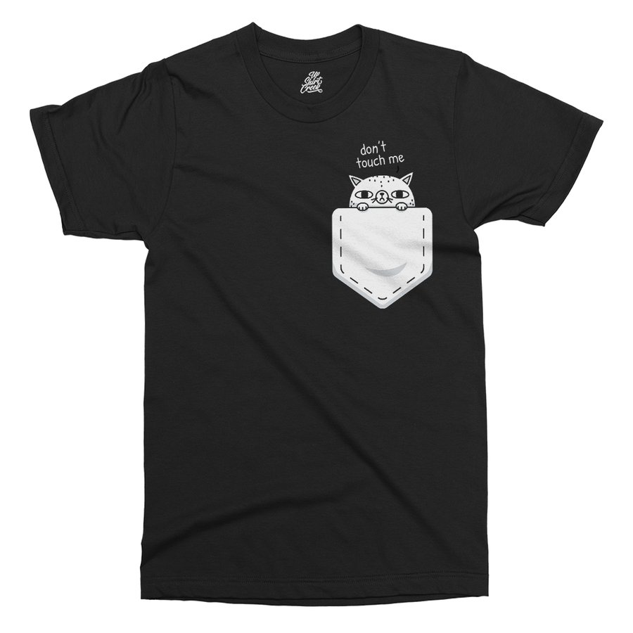 Pocket Cat Printed T-Shirt - UpShirtCreek