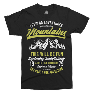 Let's Go Adventure Printed T-Shirt - UpShirtCreek