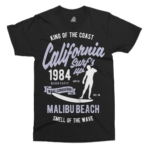 California Surf's Up Printed T-Shirt - UpShirtCreek