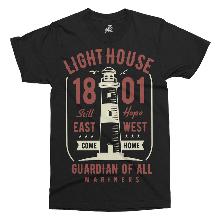 Light House Printed T-Shirt - UpShirtCreek