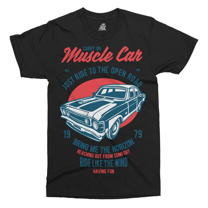 Muscle Car Printed T-Shirt - UpShirtCreek