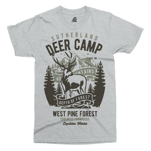Deer Camp Printed T-Shirt - UpShirtCreek