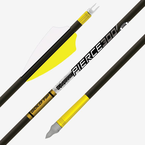 Gold Tip Fletched KINETIC PIERCE PLATINUM