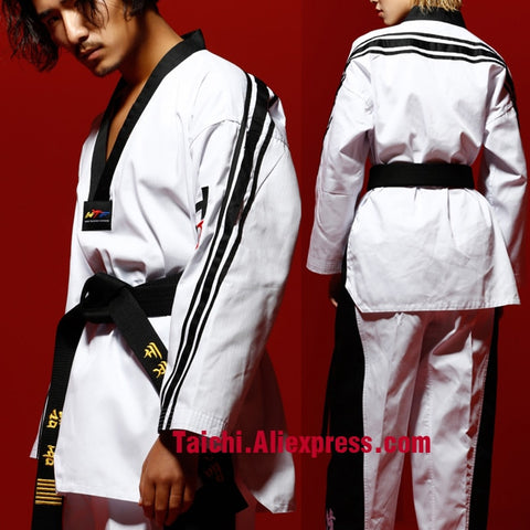 Tae Wu Mind Adult Long Sleeve Taekwondo Serve Spring New Pattern GI Training Serve Men And Women Fund Taekwondo Clothing
