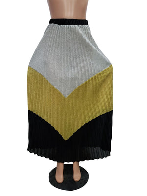 Open image in slideshow, Sexy Color Patchwork Ladies Maxi Skirts
