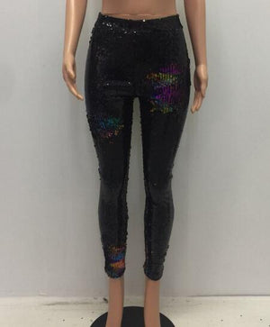 Open image in slideshow, Color Sequined Street Leggings Pants