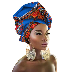 Open image in slideshow, Decorative Scarf Shawls Women African Head Wrap African Traditional Cotton Headscarf