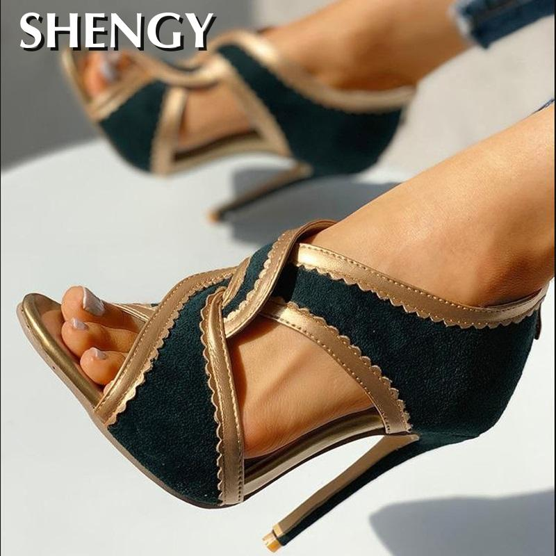 Cross Strap Open Toe Shoes