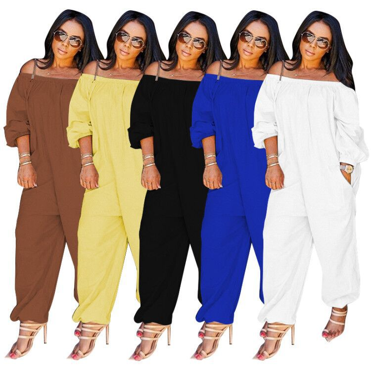 Long Sleeve Casual Strapless Jumpsuit